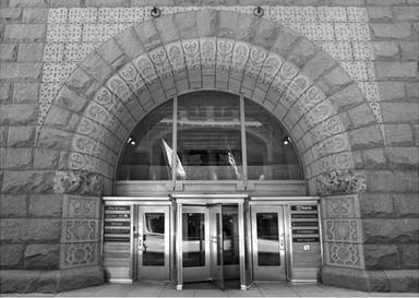 Rookery Building Entrance