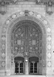 Tribune Tower Entrance