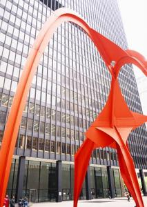 Flamingo Sculpture Photograph Chicago IL