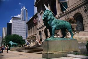 Picture of Lion Statue Art Sculpture Chicago