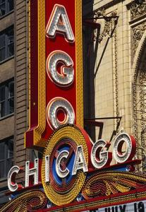 Chicago Theater Sign Photo